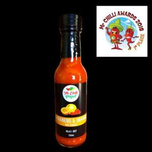 Habanero and Orange Hot Sauce Award Winning