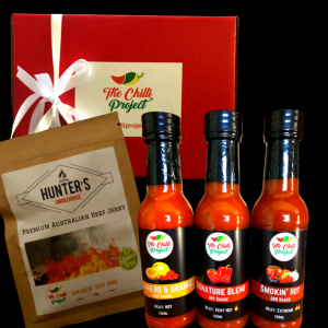 The Chilli Project Premium Sauce Gift Box with Jerky